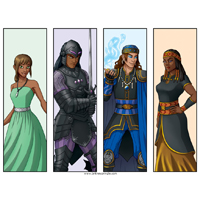 Four Character Bookmarks